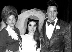Elvis, Priscilla and Her Mother