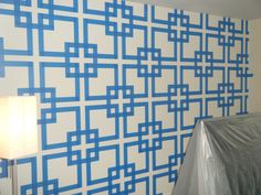 New Wall Painting Decorative Painters Tape Ideas Wall Paint Patterns, Painting Patterns, Tape Painting, House Painting, Painting Walls, Painting Tips, Painters Tape Design, Tape Wall, Paint Designs