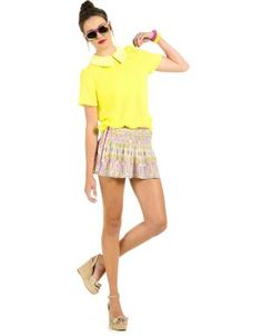 #Neon Peter Pan Collar Blouse $11.50 #moddeals #fashion