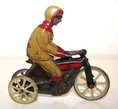 CKO German tin penny toy three wheel motorcycle