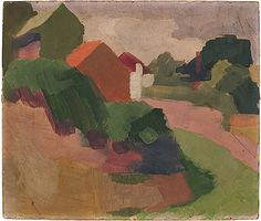 Roland WAKELIN, Hillside houses, Berry's Bay c.1919