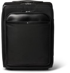 Quality-made luggage is essential to easy travel. Combining luxury with functionality, <a href='http://www.mrporter.com/mens/Designers/Montblanc'>Montblanc</a>'s 'Nightflight' wheeled suitcase has been made in France from durable tech-canvas that's resistant to stains, water damage and scratches. It has a spacious interior for all your staples, as well as three removable zipped pouches that will hold toiletries, jewellery or ties.