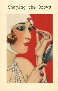 Illustrated Image http://vintagemakeupguide.com/2012/12/vintage-1920s-makeup-guides-preview/
