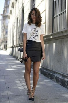 Cute t-shirt outfit ideas