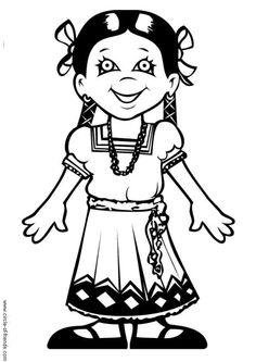 Dibujo para colorear María de México - Img 9301