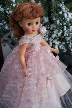 """Not a Revlon gown....but what a sweet presentation on this 15"""" doll"""