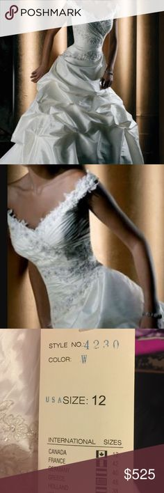 White bling wedding dress.  New with tags White bling wedding dress.  New with tags Dementrios  Dresses Wedding
