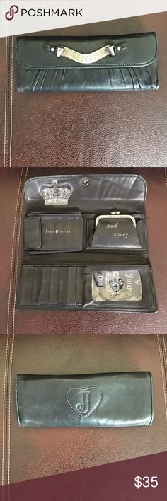 Juicy Couture Leather wallet Purchased in Bloomingdales a few years back! Paid over $150! 100% Authentic Juicy Couture Bags Wallets