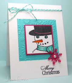 F4A177 Merry Christmas by joan ervin - Cards and Paper Crafts at Splitcoaststampers. Snowman