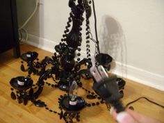 installing a chandelier