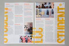 LCC Student Information Guide 2011-12 by Sarah Schrauwen, via Behance