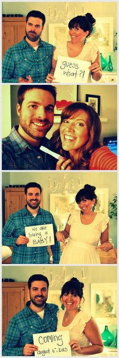 pregnancy announcement: ideas   how-to DIY a photostrip