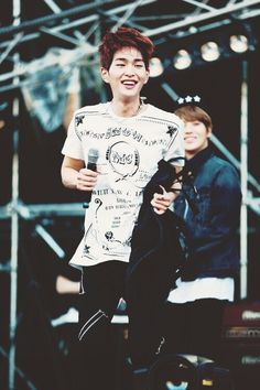 Onew (Lee Jinki) from SHINee. I miss his brown/ginger hair, but I really like his blonde hair now.