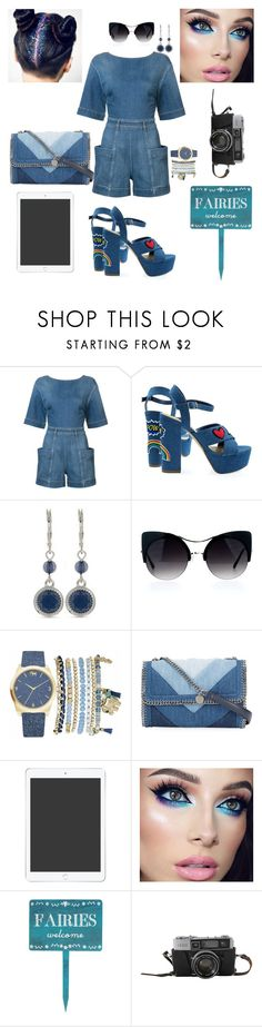 """""""blue jeans"""" by noviezaras ❤ liked on Polyvore featuring STELLA McCARTNEY, Nine West and Mixit"""