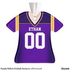 Purple/Yellow Football Jersey