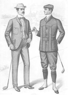 1901 Sartorial Arts Journal Fashion Plate Men's Golfing Clothes