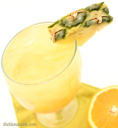 Pineapple Orange Crusher, Blue Moon, pineapple vodka, orange juice & gingerale...hello summer!