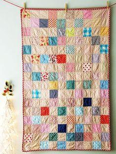 3.5'' Squares stitched randomly. Lovely Babysize. Lovely Picknicksize as well.