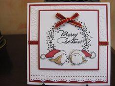 Penny Black wreath and birds Company Christmas Cards, Stamped Christmas Cards, Christmas Card Crafts, Christmas Bird, Christmas Cards To Make, Xmas Cards, Holiday Cards, Black Christmas, Winter Cards