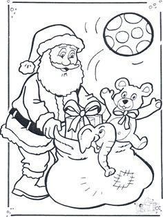 Boze Narodzenie / Kolorowanki Bożonarodzeniowe / Mikołaj