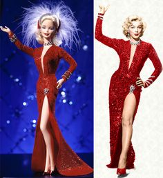 Inspirational Fashion/Icon Summit: Barbie inspired by Marilyn Monroe's 'Love my legs dress' ;-) #TopVintage