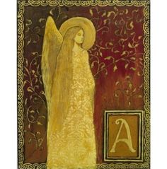 A is for Angel  An 8x10 Print from The Medieval por EmilyBalivet