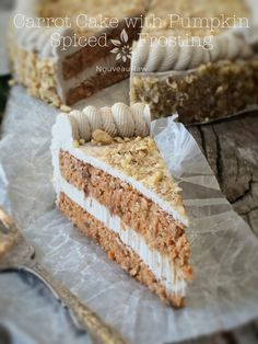 Carrot Cake with Pumpkin Spiced Frosting