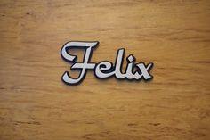 """Aluminium Schriftzug """"Felix"""""""