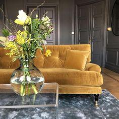 Blanca Amber velvet sofa