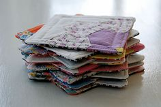 coasters from vintage quilts