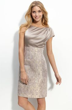 Maggy London Asymmetrical Charmeuse & Metallic Jacquard Dress, at Nordstrom, on sale for $93.90