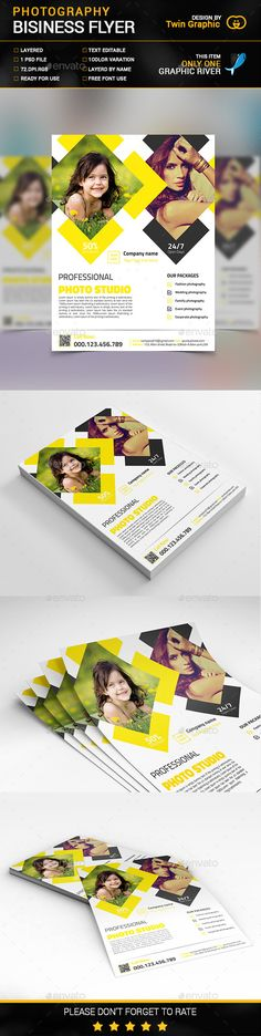 Photography Business Flyer Design Template PSD. Download here: http://graphicriver.net/item/photography-business-flyer-design/15022872?ref=ksioks
