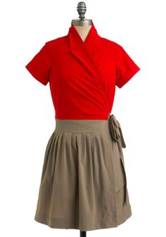 great work dress. pop of color.