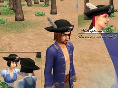Mod The Sims - Tricorn Hat - Pirate pt. 4
