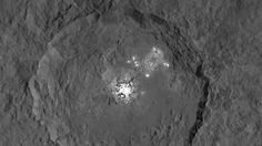 NASA Dawn Takes a Closer Look at Occator - Ceres' Bright Spots Seen in Striking New Detail