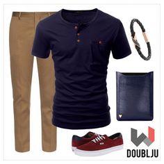 Doublju Men Short Sleeve Basic Casual One Pocket Henley Neck T-Shirts #doublju…