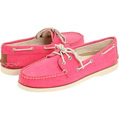 Sperry Pink Canvas Top-Sider $70