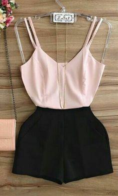 Look Rosa Moda Fashion Wear, Cute Fashion, Teen Fashion, Girls Fashion Clothes, Fashion Outfits, Clothes For Women, Womens Fashion, Night Outfits, New Outfits