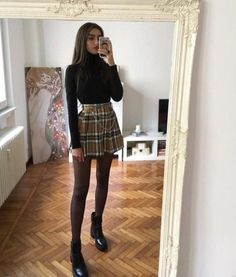 10 se Rock-Trends in diesem Winter - Trends - # . - 10 se Rock-Trends in diesem Winter - Trends - # . Winter Outfits For Teen Girls, Winter Fashion Outfits, Look Fashion, Winter Outfits With Skirts, Outfits With Tights, Womens Fashion, Summer Outfits, Autumn Outfits, Fashion Dresses