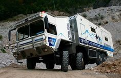 OFF ROAD MOTORHOME - The colossal 30 ton, five miles per gallon, Desert Challenger is a (1.75 million) bespoke four-axle off-road motorhome. http://www.examiner.com/rving-in-national/action-mobil-desert-challenger-the-world-s-best-off-road-rv
