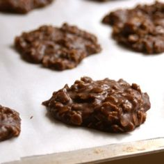 No-Bake Cookies (Vegan & GlutenFree) notes: used 1/2 of sugar used peanut butter instead of almond guessed with oats