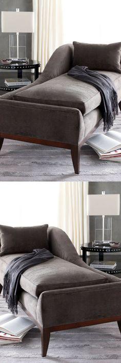 """Swag"" Velvet Chaise. Home decor ideas, living room, living room furniture, bedroom decor, bedroom, bedroom furniture, bedroom ideas, living room ideas #livingroomideas #livingroomdecor #ad #homedecorideas #houseideas"