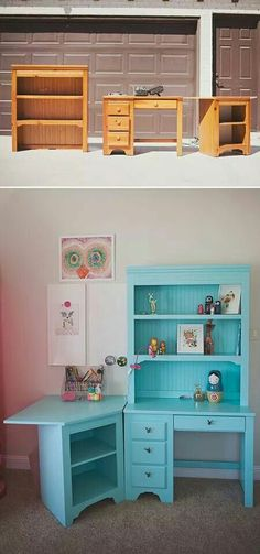 Thrifty furniture repainted to cute usable