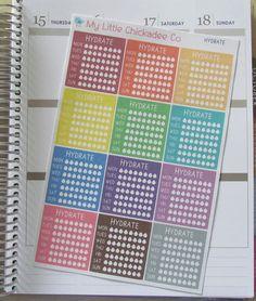 FN17 - Hydrate Checklist Planner Sticker