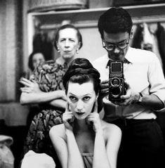 Richard Avedon Reflected Self-portrait with Diana Vreeland and Dovima c.1950