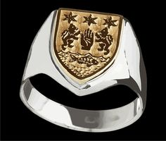 gold silver coat of arms ring 589 99 your coat of arms
