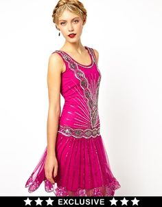 Image 1 ofFrock and Frill Deco Sequin Shift Dress