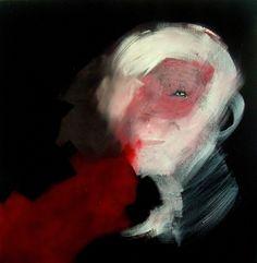 "Oscar Sancho Nin; Acrylic 2013 Painting ""m-29 (red) -SOLD-"""