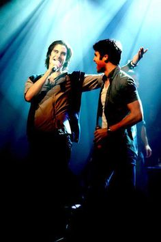 Darren and Joey on stage