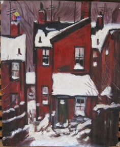 Custom painting of a house   http://www.painting-in-oil.com/recently-shipped-page-6.html